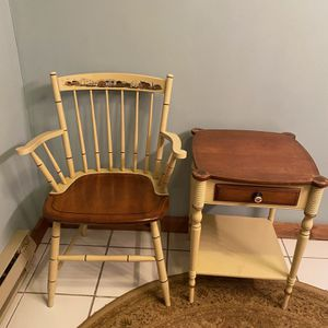 Hitchcock Side Table & Chair for Sale in Bristol, CT