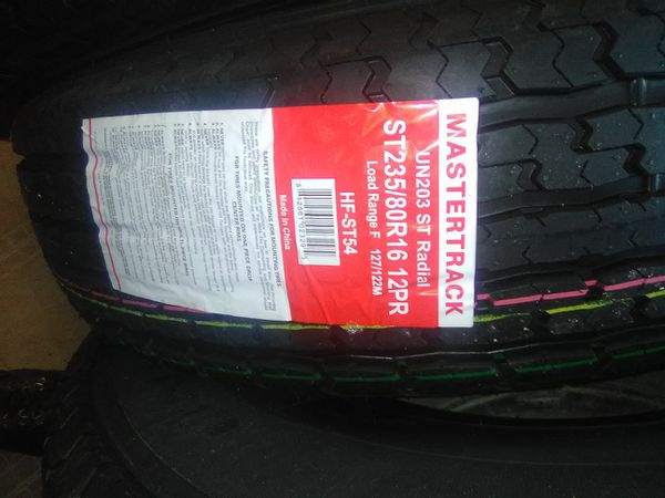 235-80-16 new 10 ply trailer tire