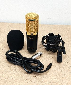 New $20 BM800 Condenser Microphone Kit Shock Mount Record Mic Anti-Wind Cap Studio Black for Sale in South El Monte, CA