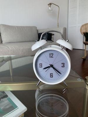 White Retro Alarm clock for Sale in Miami, FL