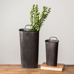 Set of 4 Magnolia Joanna Gaines Metal Wall Decor Farmhouse Flower Buckets for Sale in Camas, WA