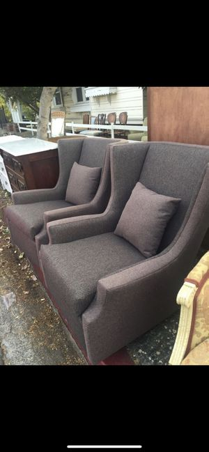 2 antique chairs freshly upholstery very comfortable for Sale in Oakland, CA