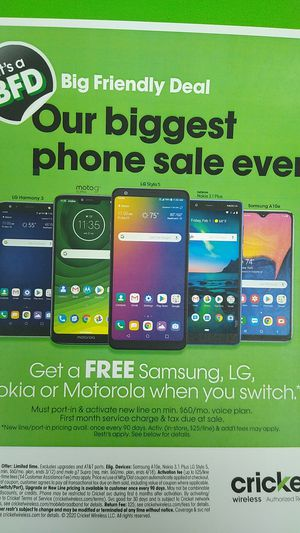 FREE PHONES CRICKET WIRELESS for Sale in Chicago, IL
