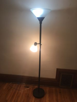 I71 in.H- Welldone Floor Lamp with Glass Shade for Sale in Denver, CO