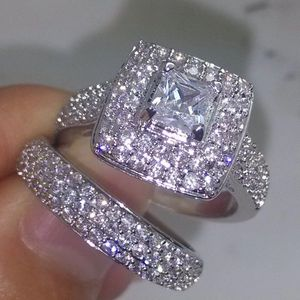 925 Sterling Silver Ring Set - Multi Row Cubic/ Circular Diamond 💍 💎 for Sale in Houston, TX
