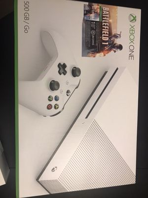 Xbox One S 500 GB Battlefield with extra wireless controller for Sale in Jersey City, NJ
