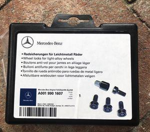 Brand new OEM Part Mercedes-Benz Genuine WHEEL LOCKS A0019901607 Bolt Lug for Sale in Pompano Beach, FL