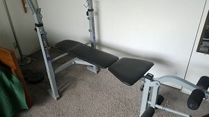 Bench press w/ weight set for Sale in Santa Monica, CA