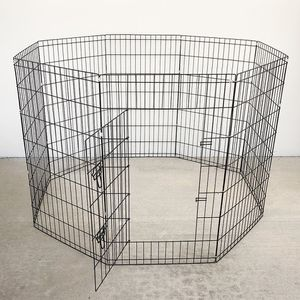 """Brand New $45 Foldable 42"""" Tall x 24"""" Wide x 8-Panel Pet Playpen Dog Crate Metal Fence Exercise Cage Play Pen for Sale in Whittier, CA"""