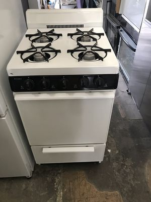 "Vertex Appliances. Used,20"", gas stove, white color, open burners, manual pilot , great condition for Sale in San Jose, CA"