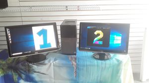 """🔥Fast! 2 Monitor Set-Up 22"""" i5 Quad-Core Desktop 8GB 500GB Microsoft Office for Sale in Hollywood, FL"""
