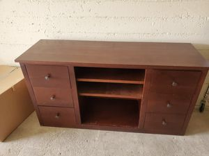 Wood Entertainment Console, TV console for Sale in San Diego, CA