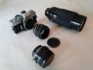 Minolta SR-T 202 35mm SLR Camera and Lenses, One-owner, All in Original Boxes for Sale in Imperial, PA