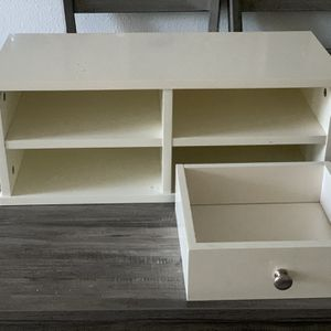 Small White Hutch White Shelf solid Heavy - On Top Of Desk Or Table Or Shelf- Length 23 Inches - Height/Depth 9 Inches for Sale in Irvine, CA