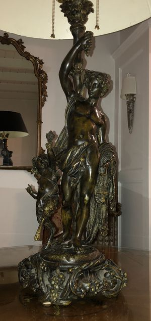 """Antique French Bronze converted to lamp 31""""Tall for Sale in Miami, FL"""