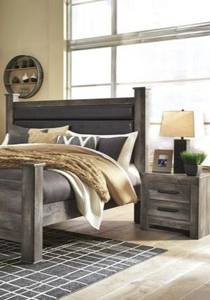 🍃$ 39 DOWN Payment  🍃 Wynnlow Gray Poster Bedroom Set | B440 for Sale in West Laurel, MD