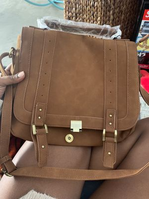 Just Fab Tan Messenger Bag for Sale in San Diego, CA