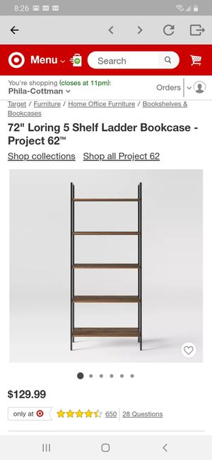 "*BRAND NEW* 72"" Loring 5 Shelf Ladder Bookcase - Project 62™ for Sale in Philadelphia, PA"