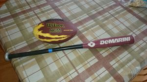 Baseball bat and Jr football for Sale in Milford, CT