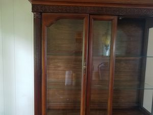 Antique china cabinet and dining room table for Sale in Lutherville-Timonium, MD