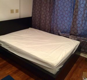 Queen bed frame plus firm mattress for Sale in Baltimore, MD