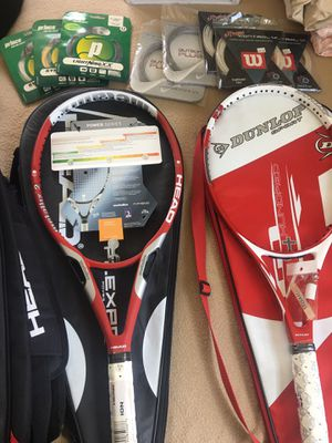 New Tennis Rackets With Bags and Cord for Sale in Garden Grove, CA