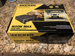 Kicker amp cxa800.1 for Sale in Maywood, IL