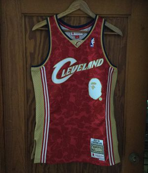 BAPE x Mitchell & Ness Cavs ABC Basketball Swingman Jersey Size Small for Sale in Cleveland, OH