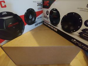 Car speakers :( total 2 pairs ) 1 pair JVC 6.5 inch component 360 watts & 1 pair 6.5 inch 2 way 300 watts car speakers new price is lowest for Sale in Huntington Park, CA