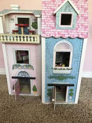 Doll house wooden and accessories for Sale in Mission Viejo, CA