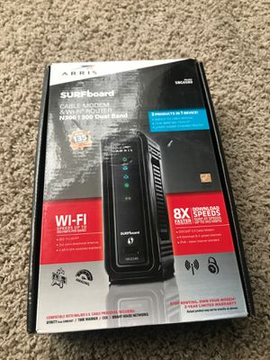 Motorola Cable Modem and Wi-Fi Router SBG6580 for Sale in Plainfield, IL