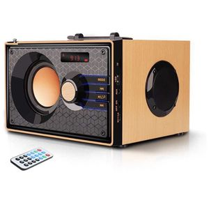 Bluetooth Speakers with FM Radio Subwoofer‼️Remote Control‼️AUX USB, Clear Audio Rich Bass Wireless (Beech color) for Sale in El Cajon, CA