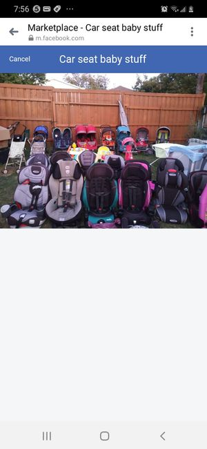 Car seat stroller play pen swing n more for Sale in Dallas, TX