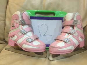Kid's size 12 SOFTEK Figure skates with velcro, BEST SKATES EVER! for Sale in Prospect Heights, IL