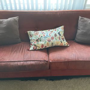 Carmine Suede Couch for Sale in Portland, OR