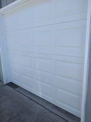 Garage door insulated metal back 8×7 with rails and hardware for Sale in El Sobrante, CA