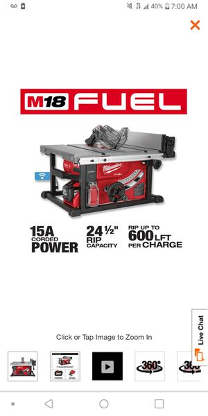 Table saw (battery powered) Milwaukee for Sale in Garden City, MI