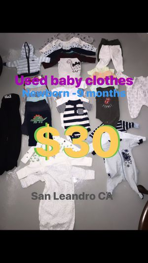 Used baby clothes for Sale in San Leandro, CA