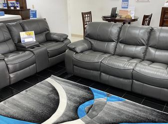 SALE!!! Madrid Gray Reclining Sofa, Loveseat And Chair. Only $50 Down ANd Delivery Today🚚!!! for Sale in Tampa,  FL
