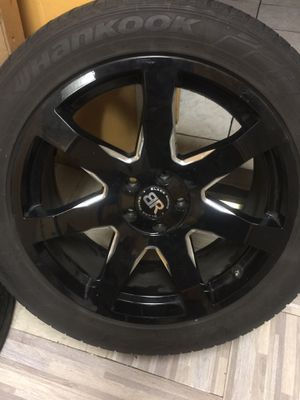 "20"" Black Rhino wheels with hankook tires for Sale in Reading, PA"