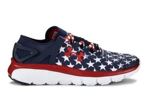 NEW UNDER ARMOUR USA Independence Day BOYS Size 3.5 SPEEDFORM® FORTIS FLAG GRAPHIC RUNNING SHOES Nike adidas jordan for Sale in Las Vegas, NV