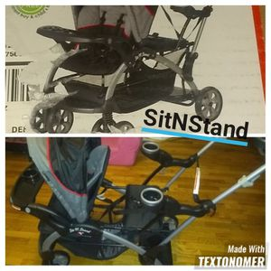 SitNstand double stroller for Sale in Fountain, CO