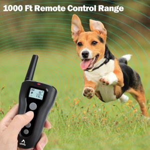 PATPET Dog Training Collar with Remote Rechargeable Waterproof Shock Collar for Dogs w/3 Training Modes, Beep Vibration and Shock, Up to 1000Ft Remote for Sale in Laurel, MD