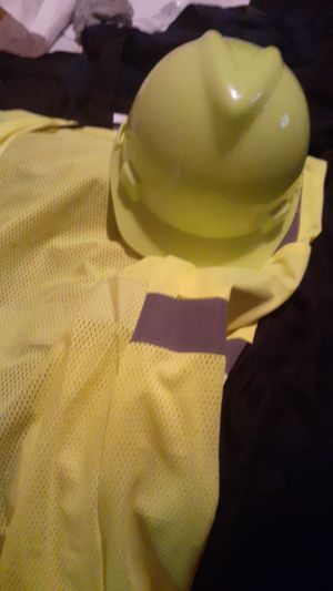 Hard hat and vest for Sale in Lynchburg, VA