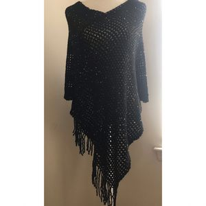 Sequin Fringe Poncho for Sale in Woodbury, NJ
