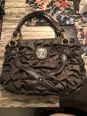 Juicy Couture Brown Quilted Silk Shoulder Bag for Sale in Houston, TX