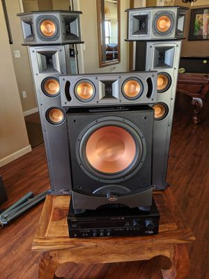 Klipsch R10 Speakers, 12 in. Sub, Yamaha 5.1 Receiver for Sale in Mesa, AZ
