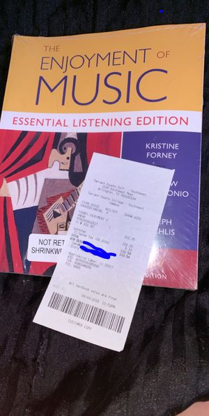 The Enjoyment of Music ( 3rd Edition- Essential listening edition ) for Sale in Arlington, TX