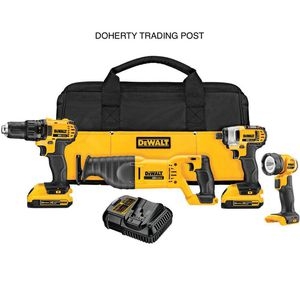 DEWALT 20-Volt MAX Lithium-Ion Cordless Combo Kit (4-Tool) with (2) Batteries 2.0Ah, Charger and Tool Bag for Sale in Laurys Station, PA