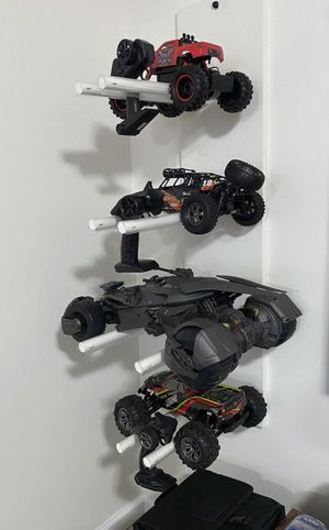 Remote Control RC Truck and Ultimate Justice League Batmobile Set + DIY RC Storage Organizer Toy Display for Sale in Woodbridge, VA